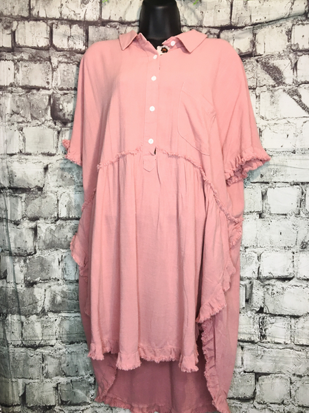 shop women's and girls' clothing clothes apparel gifts accessories jewelry online or in store at boerne pixie boutique | a favorite of locals and san antonio visitors too | best boerne boutiques | linen button dress pink