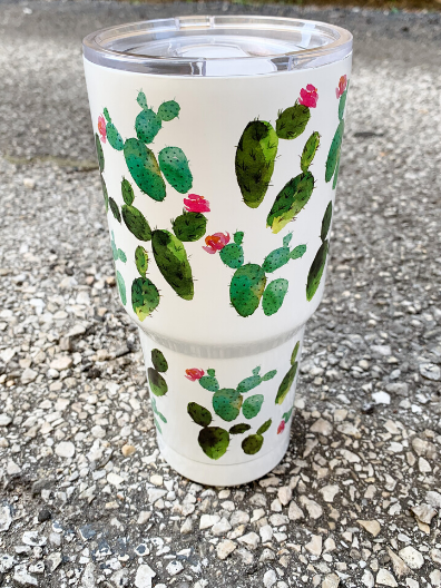 cactus print tumbler water cup bottle | shop women's clothing clothes apparel accessories and gifts online or in store at boerne pixie boutique | a favorite of locals and san antonio visitors too