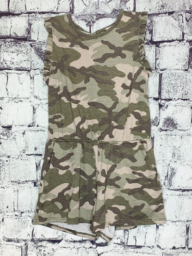 girls camo romper jumper jumpsuit outfit | shop girls clothing clothes apparel online or in store boerne pixie boutique | a favorite of locals and san antonio visitors too