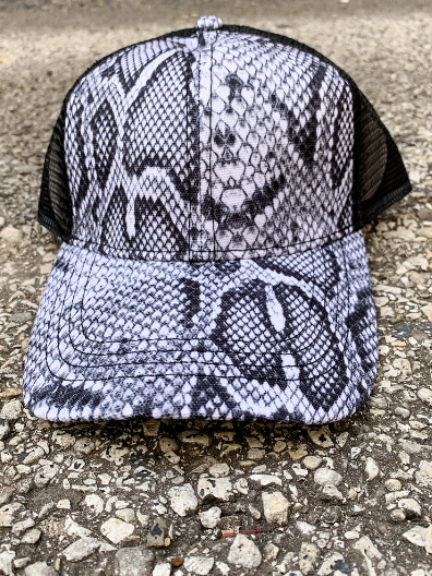 snakeskin snake print country cruisin' cap hat baseball cap | shop women's clothing clothes apparel online or in store at boerne pixie boutique | a favorite of locals and san antonio visitors too