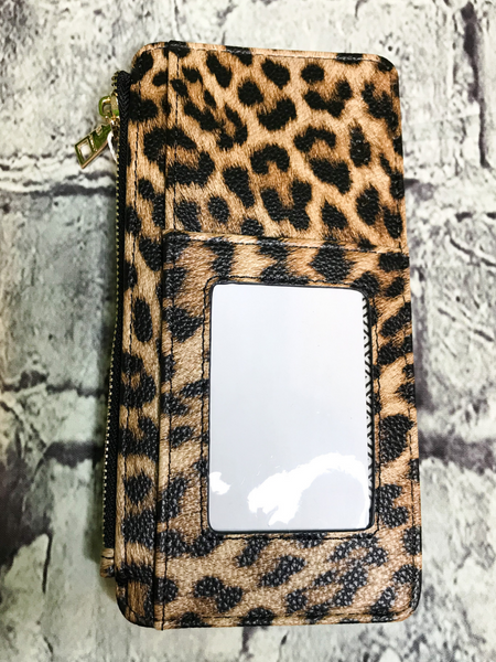 brown black leopard print credit card wallet | shop women's clothing clothes apparel accessories jewelry and gifts online or in store at boerne pixie boutique | a favorite of locals and san antonio visitors too