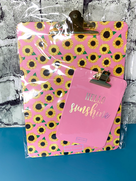 sunflower clipboard set simply southern | shop women's clothing clothes apparel accessories and gifts online or in store at boerne pixie boutique | a favorite of locals and san antonio visitors too