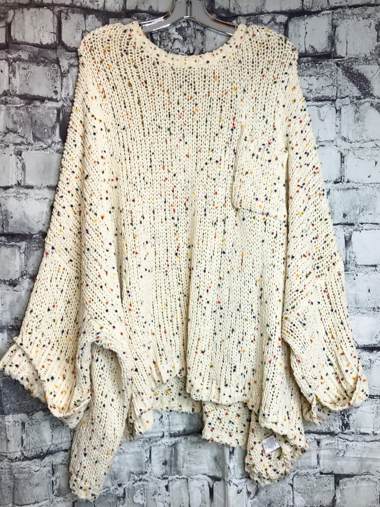 cream tan plus size confetti sweater top shirt blouse | fall and winter fashion | shop women's clothing clothes apparel accessories jewelry and gifts online or in store at boerne pixie boutique | a favorite of locals and san antonio visitors too