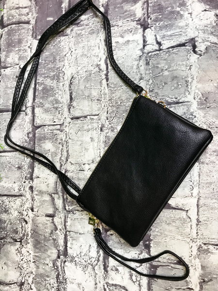 black crossbody bag wristlet purse handbag | shop women's clothing clothes apparel accessories jewelry and gifts online or in store at boerne pixie boutique | a favorite of locals and san antonio visitors too