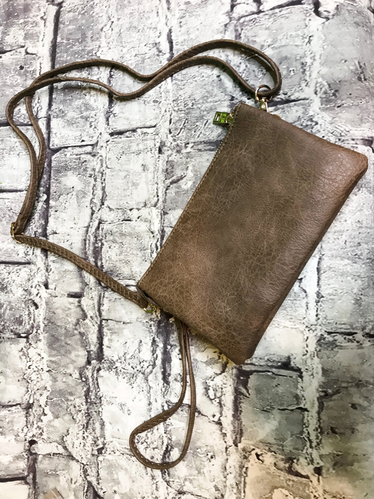 chocolate brown crossbody bag wristlet purse handbag | shop women's clothing clothes apparel accessories jewelry and gifts online or in store at boerne pixie boutique | a favorite of locals and san antonio visitors too