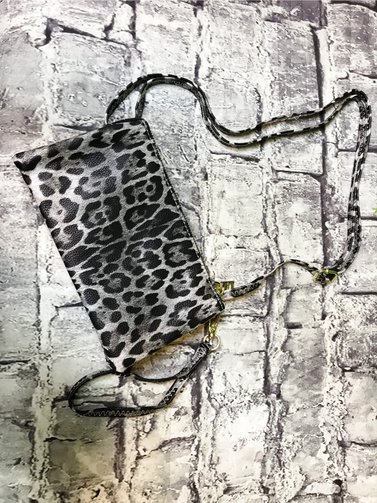 gray grey leopard print crossbody bag wristlet purse handbag | shop women's clothing clothes apparel accessories jewelry and gifts online or in store at boerne pixie boutique | a favorite of locals and san antonio visitors too