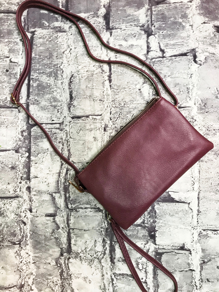 maroon crossbody bag wristlet purse handbag | shop women's clothing clothes apparel accessories jewelry and gifts online or in store at boerne pixie boutique | a favorite of locals and san antonio visitors too