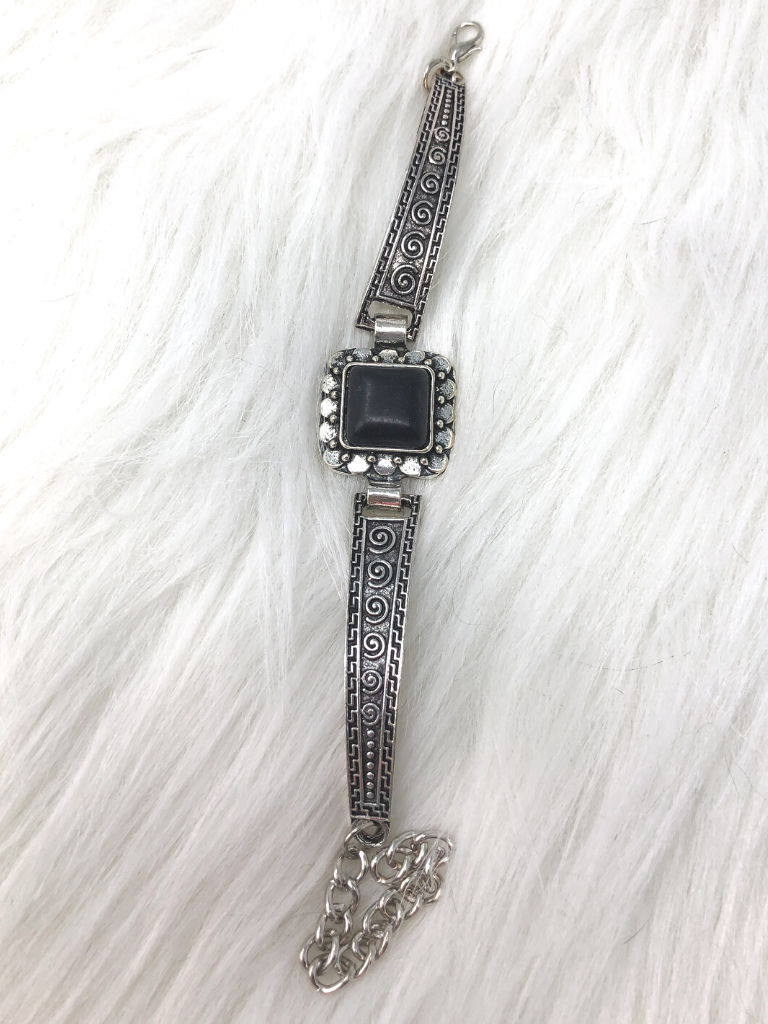 silver black bracelet cuff | shop women's clothing clothes apparel accessories and gifts online or in store at boerne pixie boutique | a favorite of locals and san antonio visitors too