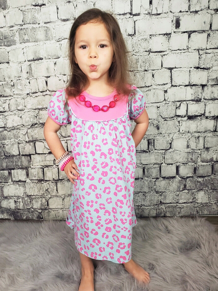 feeling cute leopard dress for baby toddler girls' youth pink and white pixie boutique boerne shop online or in store
