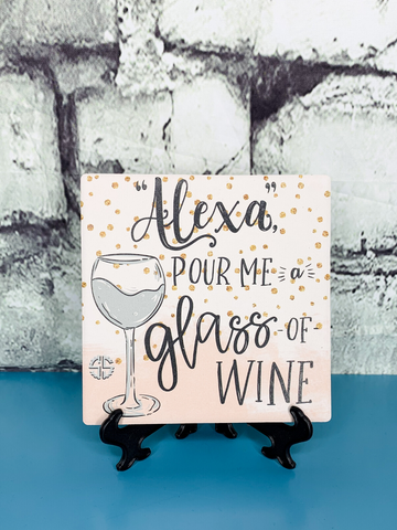 drink coaster alexa pour me wine simply southern | shop women's clothing clothes apparel accessories and gifts online or in store at boerne pixie boutique | a favorite of locals and san antonio visitors too Edit alt text