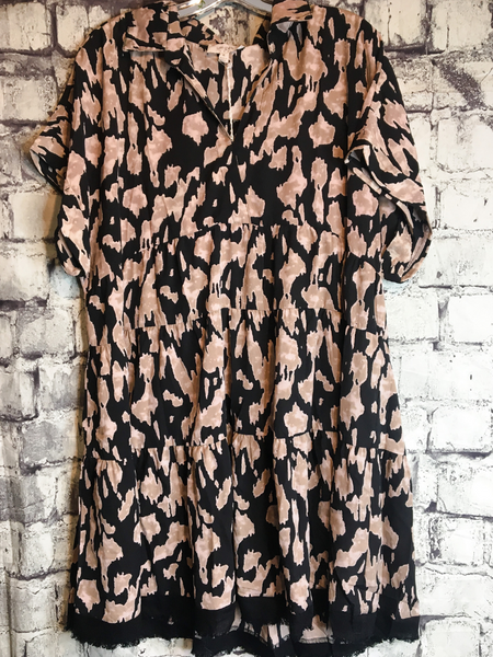 Plus Animal Print Dress - 2 Colors!