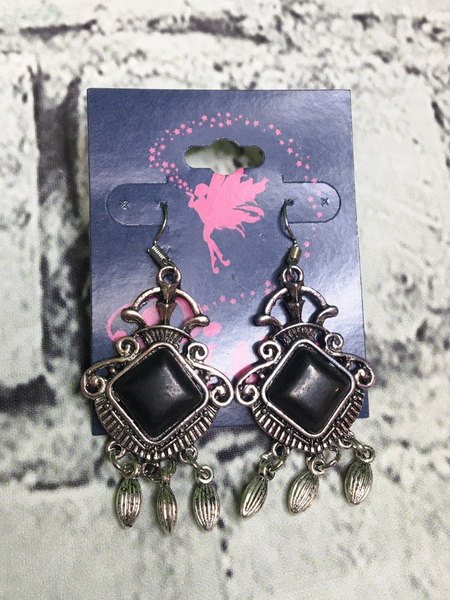 silver turquoise earrings in black | shop women's clothing clothes apparel accessories jewelry and gifts online or in store at boerne pixie boutique | a favorite of locals and san antonio visitors too