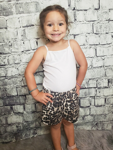 girls leopard print shorts bottoms shop girls clothing clothes apparel online or in store boerne pixie boutique | a favorite of locals and san antonio visitors too