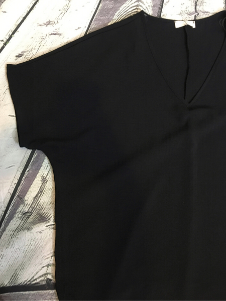 black flowy top women's clothing apparel clothes pixie boerne boutique shop online or in store