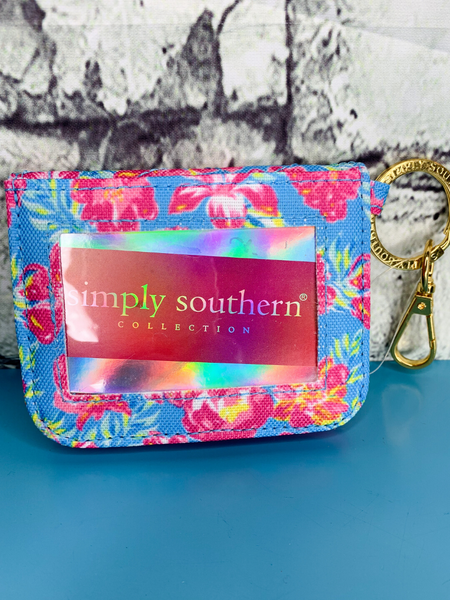 floral print simply southern id wallet purse handbag clutch | shop women's clothing clothes apparel accessories and gifts online or in store at boerne pixie boutique | a favorite of locals and san antonio visitors too
