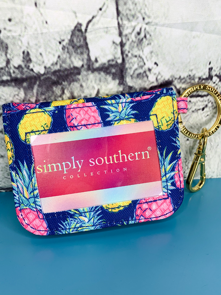 pineapple print simply southern id wallet purse handbag clutch | shop women's clothing clothes apparel accessories and gifts online or in store at boerne pixie boutique | a favorite of locals and san antonio visitors too