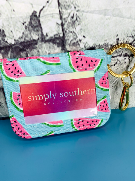 watermelon print simply southern id wallet purse handbag clutch | shop women's clothing clothes apparel accessories and gifts online or in store at boerne pixie boutique | a favorite of locals and san antonio visitors too
