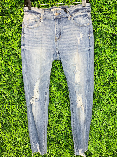 distressed skinny jeans shop women's clothing clothes apparel online or in store boerne pixie boutique | a favorite of locals and san antonio visitors too