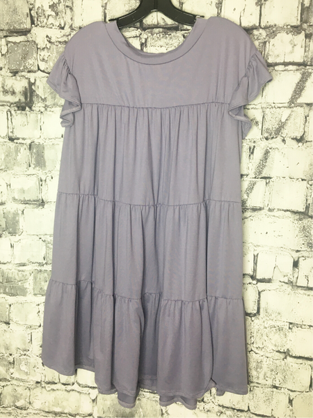 lavender plus size peasant dress ruffles women's clothing apparel clothes pixie boutique boerne shop online or in store