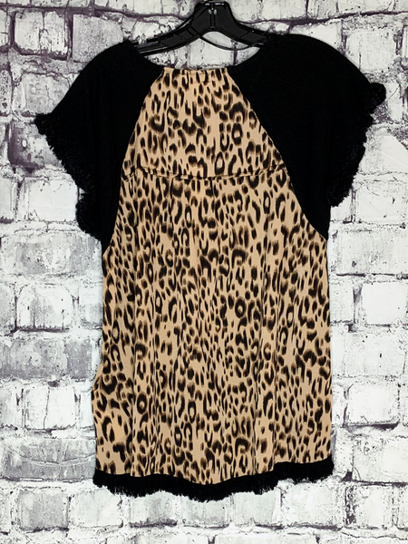 black leopard print back linen top shirt blouse tunic | shop women's clothing clothes apparel accessories and gifts online or in store at boerne pixie boutique | a favorite of locals and san antonio visitors too