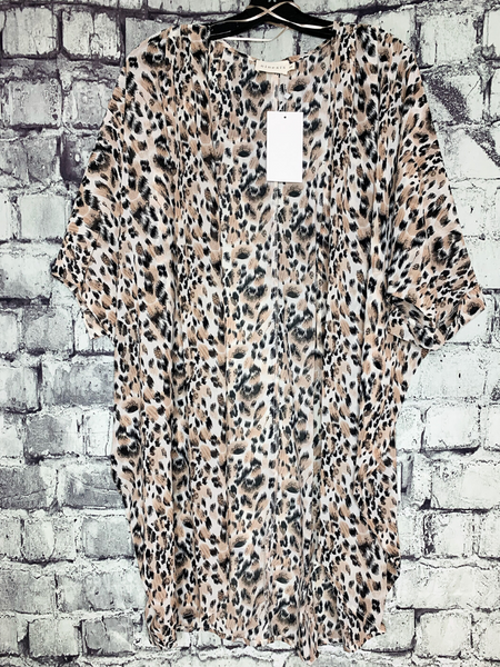 leopard print kimono cardigan shirt top blouse | shop women's clothing clothes apparel online or in store at boerne pixie boutique | a favorite of locals and san antonio visitors too