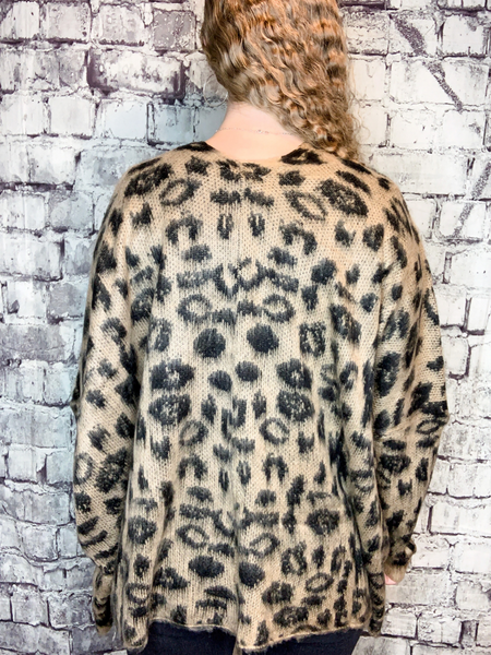 leopard print sweater cardigan top shirt bouse | fall winter fashion | shop women's clothing clothes apparel accessories jewelry and gifts online or in store at boerne pixie boutique | a favorite of locals and san antonio visitors too