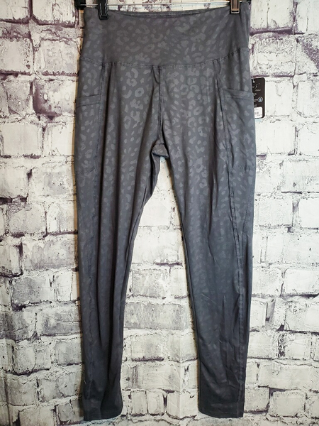 gray leopard print leggings tights yoga pants | shop women's clothing clothes apparel accessories jewelry and gifts online or in store at boerne pixie boutique | a favorite of locals and san antonio visitors too