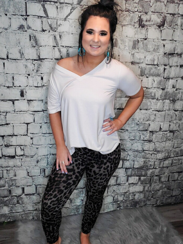 plus size leopard print leggings pants bottoms lounge wear pajamas pj's | shop women's clothing clothes apparel accessories and gifts online or in store at boerne pixie boutique | a favorite of locals and san antonio visitors too