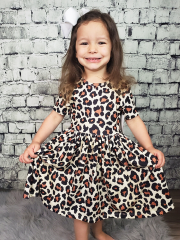wild one twirl dress for toddler girls' youth leopard print pixie boutique boerne shop online or in store