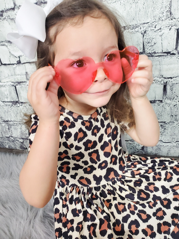 heart shaped glasses pink or red girls women's accessories pixie boerne shop online or in store