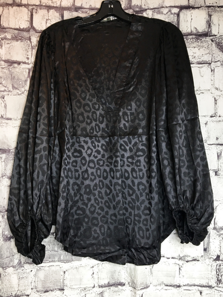 black leopard print satin top shirt blouse | fall and winter fashion | shop women's clothing clothes apparel accessories jewelry and gifts online or in store at boerne pixie boutique | a favorite of locals and san antonio visitors too | top best boerne boutiques