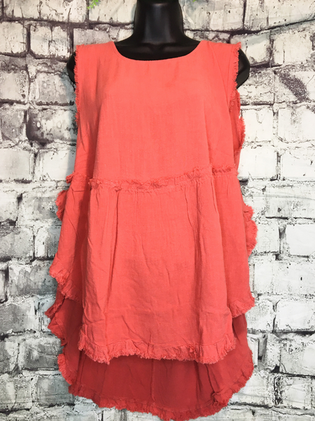 shop women's and girls' clothing clothes apparel gifts accessories jewelry online or in store at boerne pixie boutique | a favorite of locals and san antonio visitors too | best boerne boutiques | linen tank coral