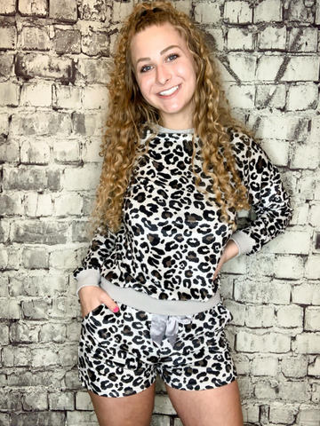 leopard print animal print lounge set pajamas | shop women's clothing clothes apparel accessories and gifts online or in store at boerne pixie boutique | a favorite of locals and san antonio visitors too