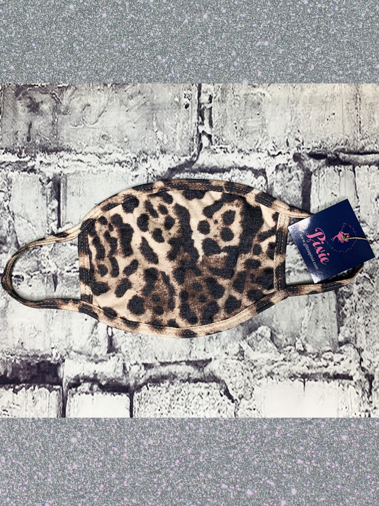 sassy leopard print face mask | shop women's clothing clothes apparel online or in store at boerne pixie boutique | a favorite of locals and san antonio visitors too