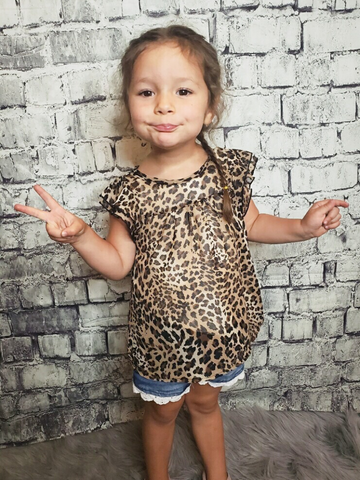 sleeveless girls' leopard print top shirt blouse | shop girls clothing clothes apparel online or in store boerne pixie boutique | a favorite of locals and san antonio visitors too