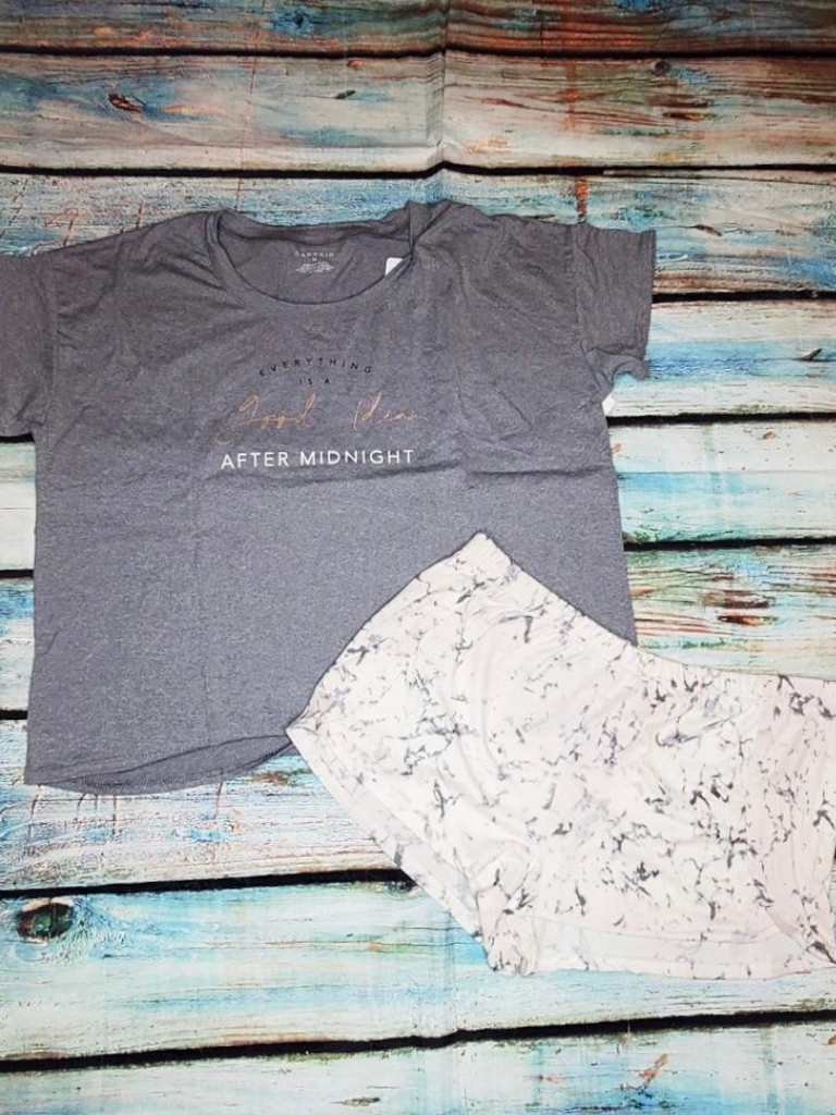 midnight lounge set gray t-shirt tee shirt marble print shorts bottoms pj's pajamas lounge wear | shop women's clothing clothes apparel accessories and gifts online or in store at boerne pixie boutique | a favorite of locals and san antonio visitors too