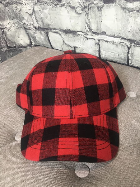 buffalo plaid checkered print country cruisin' cap hat baseball cap | shop women's clothing clothes apparel online or in store at boerne pixie boutique | a favorite of locals and san antonio visitors too