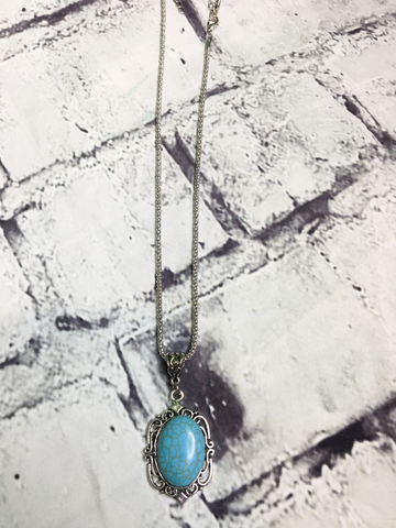 silver turquoise necklace jewelry | shop women's clothing clothes apparel accessories and gifts online or in store at boerne pixie boutique | a favorite of locals and san antonio visitors too