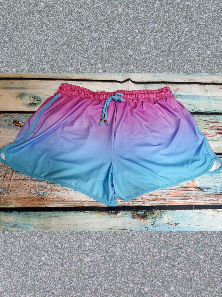 blue purple pink ombre tie dye shorts bottoms pajamas pj's lounge wear | shop women's clothing clothes apparel accessories and gifts online or in store at boerne pixie boutique | a favorite of locals and san antonio visitors too