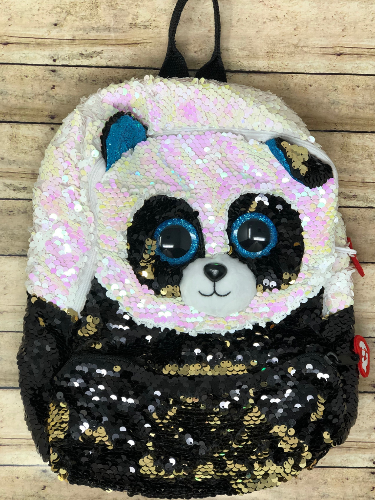 Sequin Backpack Bamboo Panda