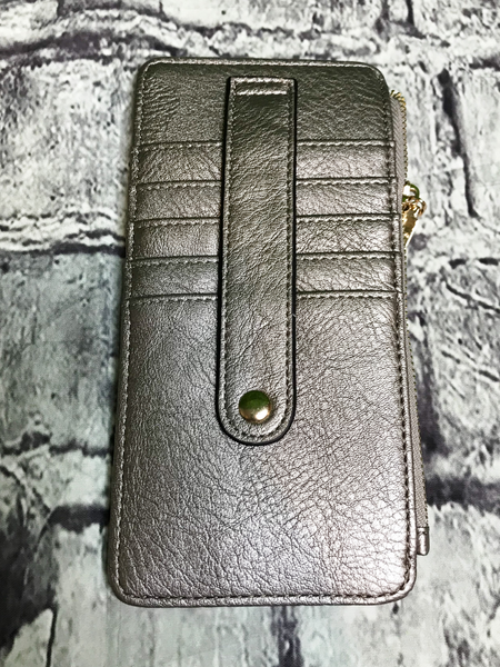 pewter credit card wallet | shop women's clothing clothes apparel accessories jewelry and gifts online or in store at boerne pixie boutique | a favorite of locals and san antonio visitors too