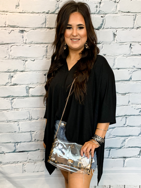 black poncho plus size v nect women's clothing apparel clothes boerne pixie boutique shop online or in store