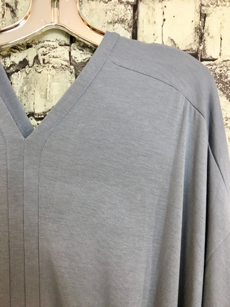 gray poncho plus size v nect women's clothing apparel clothes boerne pixie boutique shop online or in store