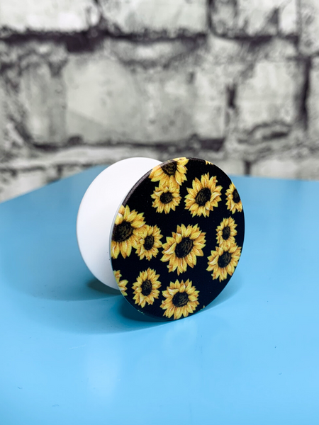 sunflower pop socket mobile phone accessory | shop women's clothing clothes apparel accessories and gifts online or in store at boerne pixie boutique | a favorite of locals and san antonio visitors too
