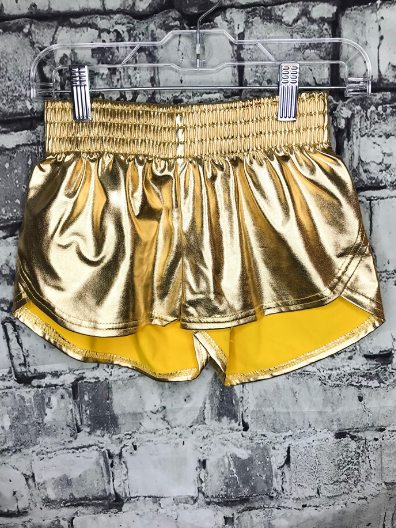 metallic shorts for youth girls bottoms lounge wear active wear | shop girls clothing clothes apparel online or in store boerne pixie boutique | a favorite of locals and san antonio visitors too