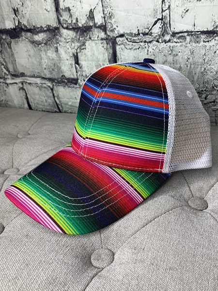 serape country cruisin' cap hat baseball cap | shop women's clothing clothes apparel online or in store at boerne pixie boutique | a favorite of locals and san antonio visitors too