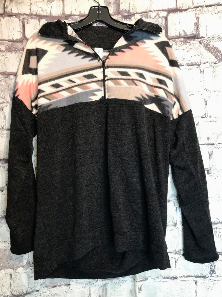 Black tan cream pink gray aztec print pullover sweater | shop women's clothing clothes apparel accessories jewelry and gifts online or in store at boerne pixie boutique | a favorite of locals and san antonio visitors too | top best boerne boutiques