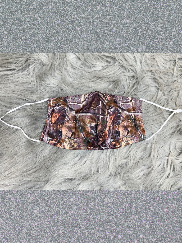 real camo print face mask with filter adjustable straps and metal at nose | shop women's clothing clothes apparel accessories and gifts online or in store at boerne pixie boutique | a favorite of locals and san antonio visitors too