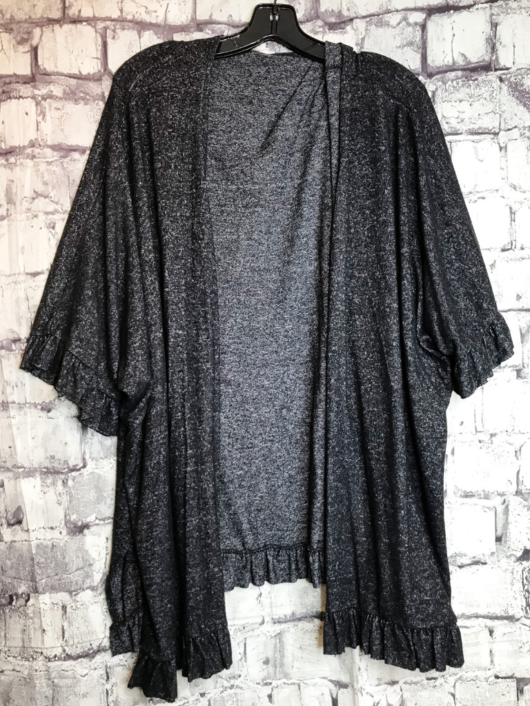 black ruffle cardigan sweater top shirt blouse | fall and winter fashion | shop women's clothing clothes apparel accessories jewelry and gifts online or in store at boerne pixie boutique | a favorite of locals and san antonio visitors too