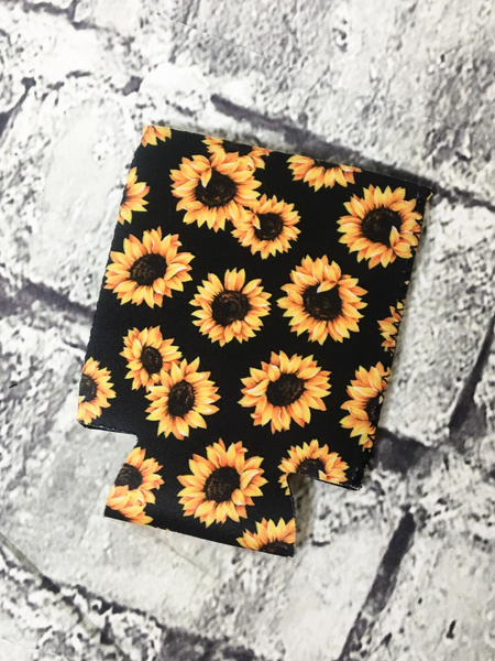 can cooler koozie coozie sunflower | shop women's clothing clothes apparel accessories and gifts online or in store at boerne pixie boutique | a favorite of locals and san antonio visitors too